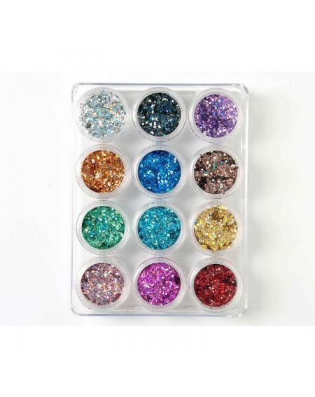 Decoración uñas Glitter Hexagon Set Nº1