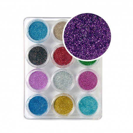 Decoración uñas Glitter Powder Set Nº1