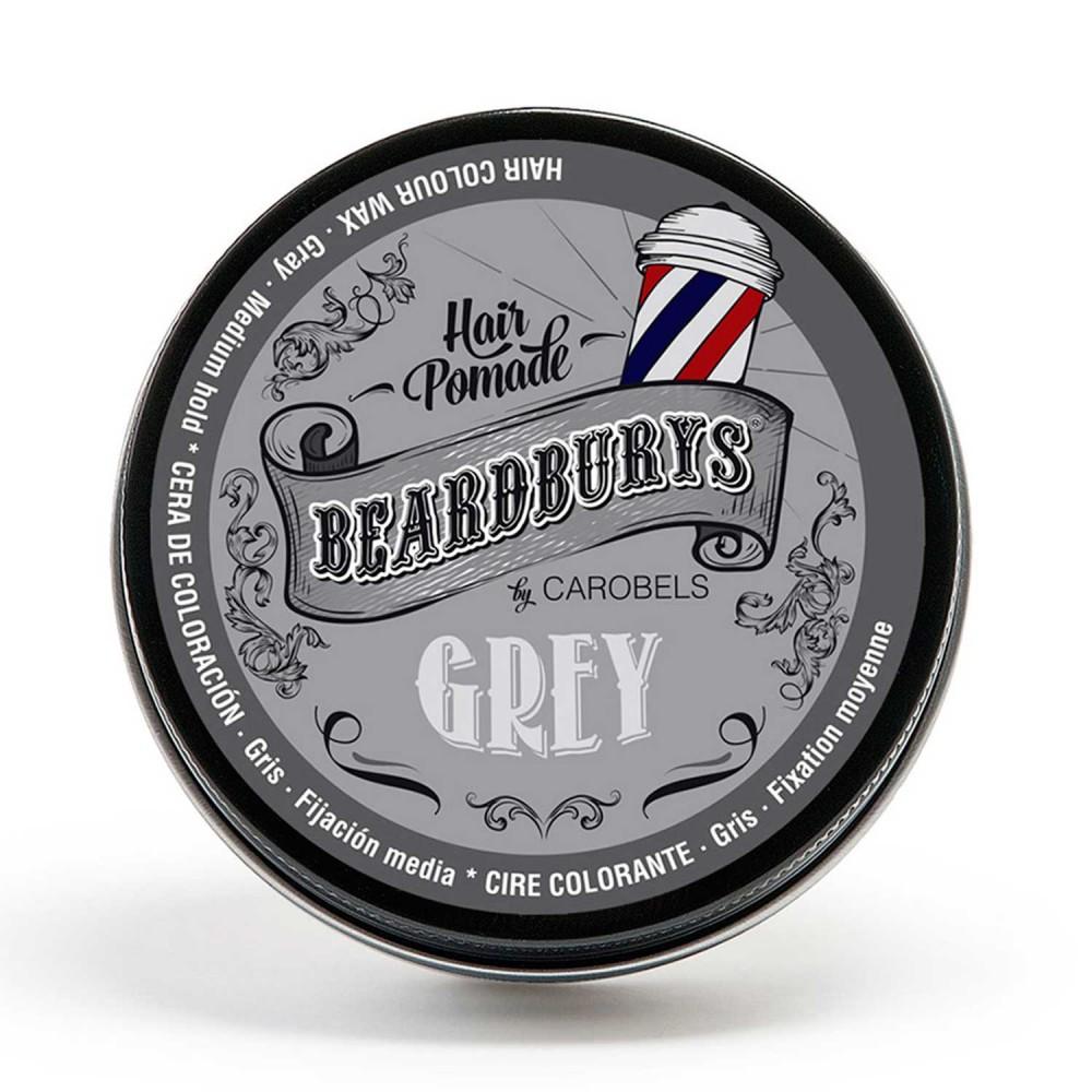 Cera para el pelo con color Beardburys Gris