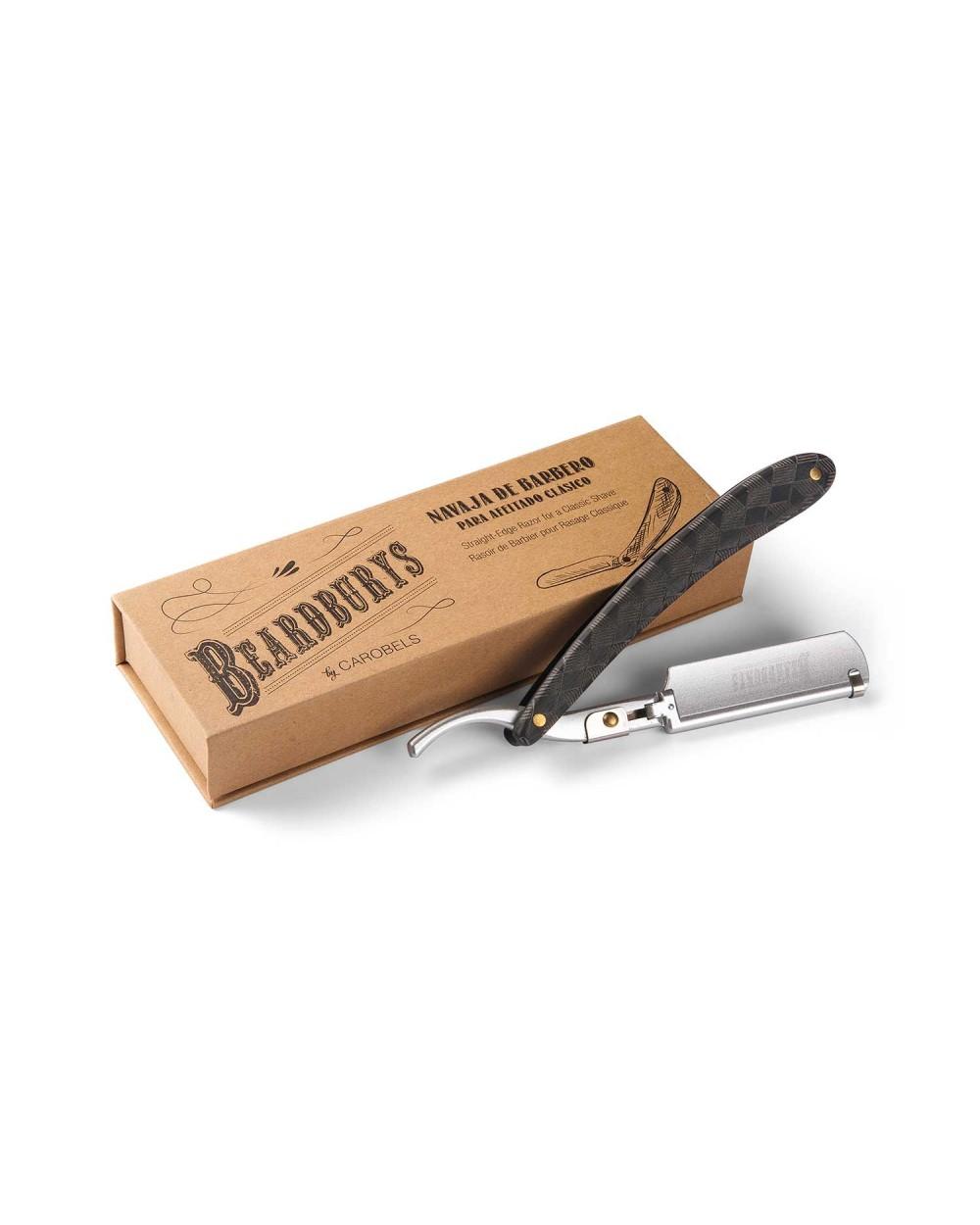 Navaja de barbero de doble hoja extralarga Master Double XXL con caja