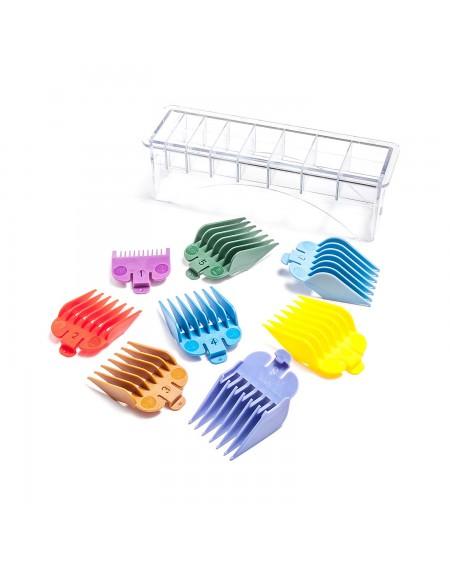 Set 8 peines para máquina de corte con soporte