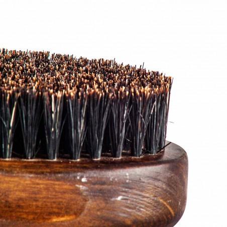 Detalle cerdas de jabali y nailon del cepillo de barba mediano Beardburys