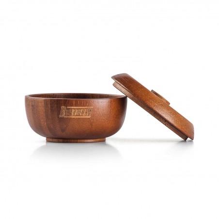 cuenco de afeitado de madera abierto Beardburys