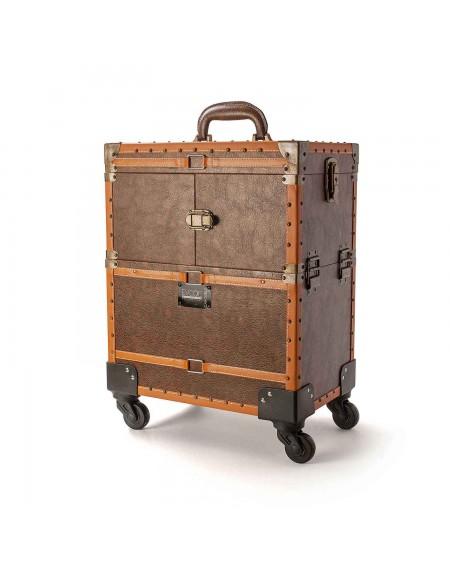 maletín vintage con ruedas para barbería beardburys