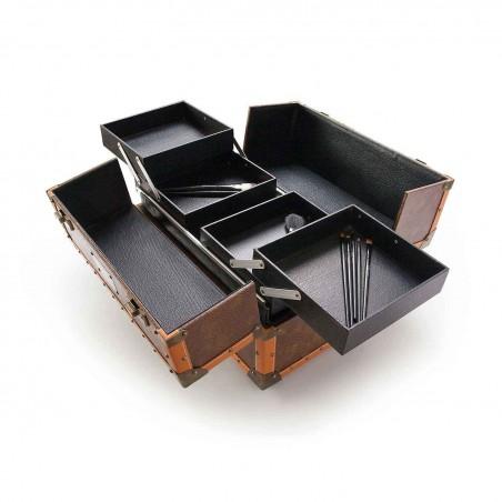 maletin de mano vintage Beardburys abierto