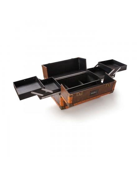 maletin de mano vintage Beardburys extendido