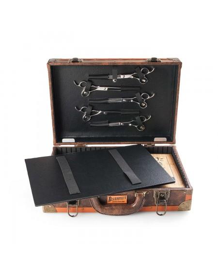 maletín vintage de barbero beardburys con compartimentos