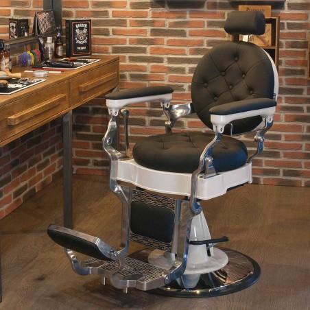 Sillón de barbería Beardburys Chicago Negro