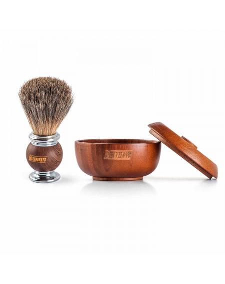 Cuenco de afeitado y brocha de afeitado