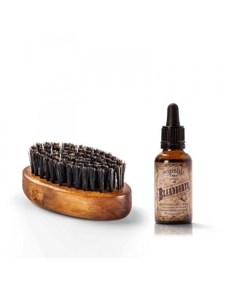 Aceite para barba + cepillo de barba