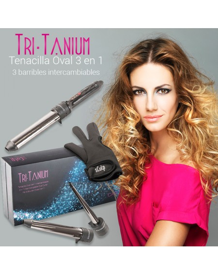 Rizador de pelo Sculpby Tri-Tanium