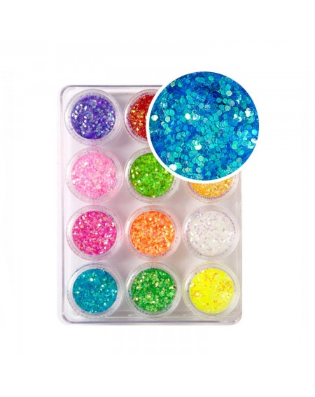 Decoración uñas Glitter Rainbow 1mm S