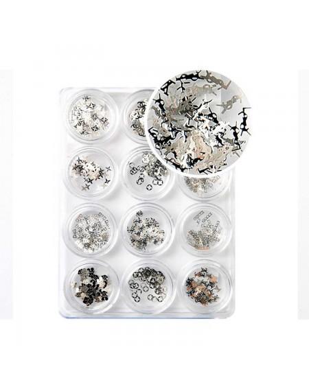 Decoración uñas Silver Shape Brands Se
