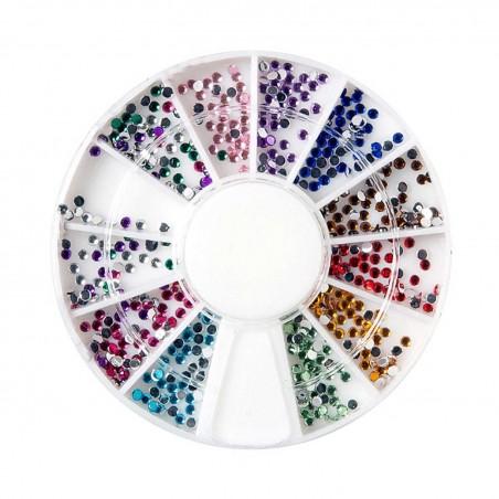 Decoración uñas Rhinestone Round 12colores
