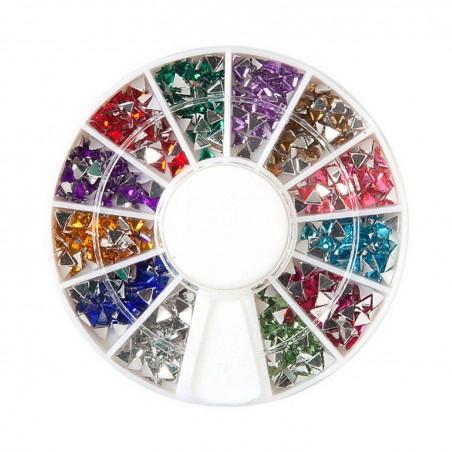 Decoración uñas Rhinestone Trigon 12colores